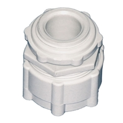 Corrugated Conduit Gland (Grey) 16mm PK50
