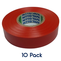 Insulation Tape 20mm x 19mm RED 10 PK