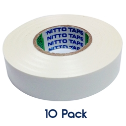 Insulation Tape 20mm x 19mm WHITE 10 PK