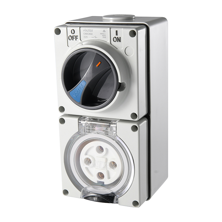 Voltex Switched Socket Outlets - IP56 500V 32A - 4 Round pins