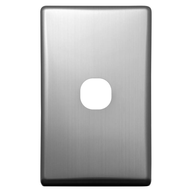 Voltex Classic Stainless Steel Cover Plate for 1 Gang Switch