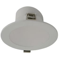 IP44 Rated Monaco 9.5W Voltex Integrated Driver LED Fixed Down Light 90mm - Warm White - 3000K - 7 Year Warranty