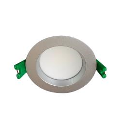 Madrid 9W LED Fixed Down Light 85° - Natural White 4000K - Silver Trim, Dimmable - 7 year Warranty