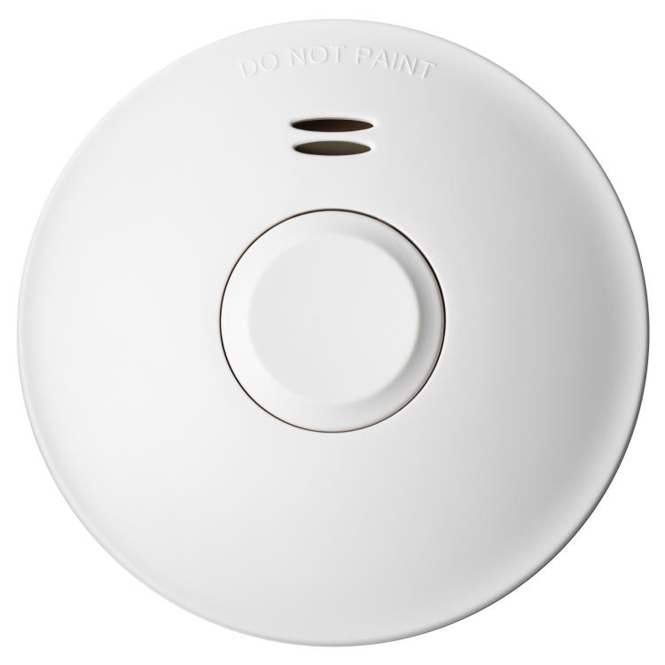 Voltex Photoelectric Smoke Alarm, Sealed 10 Year Lithium Battery Only. Surface Mounted and Wireless Interconnection